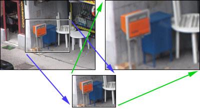 Digitálny zoom - interpolácia